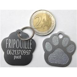 """Médaille """"patte"""" argent grand modèle pour Chien gravure 1 face"""