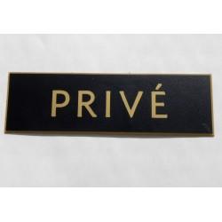 plaque adhésive PRIVÉ biseautée format 29 x 100 mm