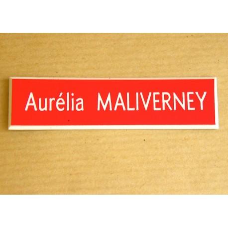 plaque de boite aux lettres, porte, sonnette petit modèle personnalisable 1 ligne