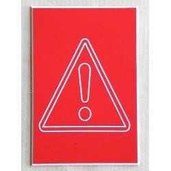 """plaque adhésive PICTO """"Danger"""" format 50 x 75 mm"""