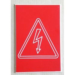 """plaque adhésive """"Danger électrique"""" format 50 x 75 mm"""