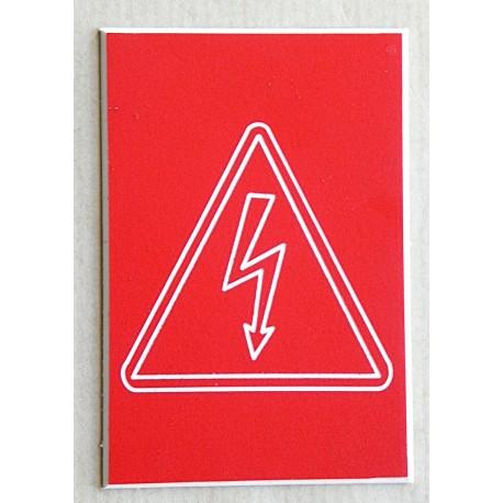 """plaque gravée PICTO """"Danger électrique"""" finition biseautée format 50 x 75 mm"""
