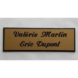 """plaque de boite aux lettres, sonnette format 20 x 60 mm personnalisable 2 lignes """"anglaise"""""""