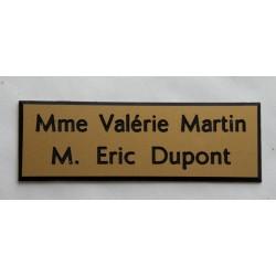 plaque de boite aux lettres, sonnette format 20 x 60 mm personnalisable 2 lignes