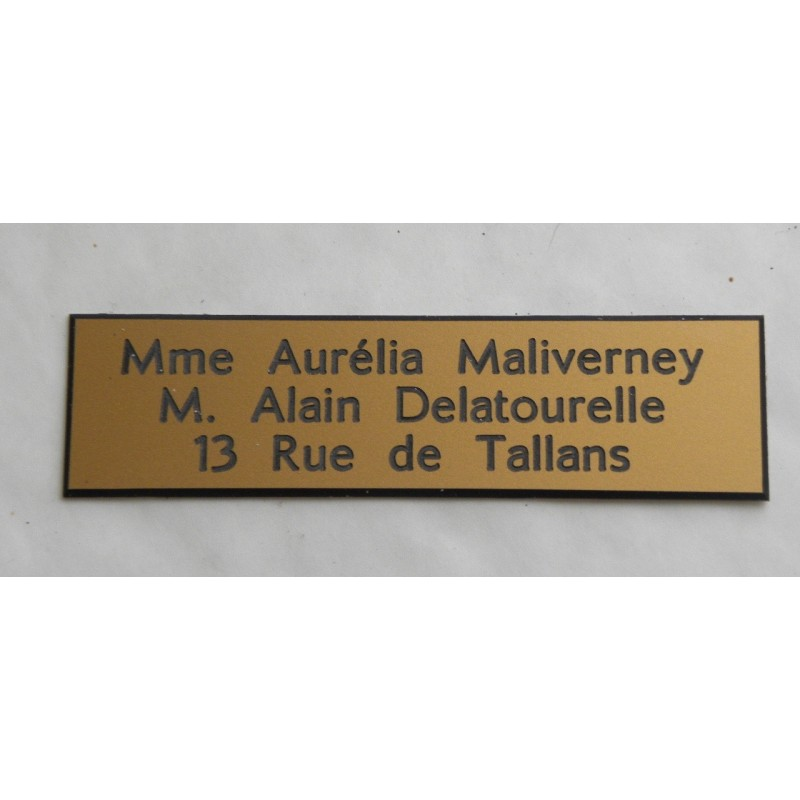 plaque de boite aux lettres sonnette format 25 x 100 mm. Black Bedroom Furniture Sets. Home Design Ideas
