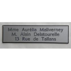 plaque de boite aux lettres, format 29 x 100 mm personnalisable 3 lignes