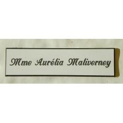 """plaque de boite aux lettres, porte, sonnette format 25 x 100 mm personnalisable 1 ligne """"anglaise"""""""