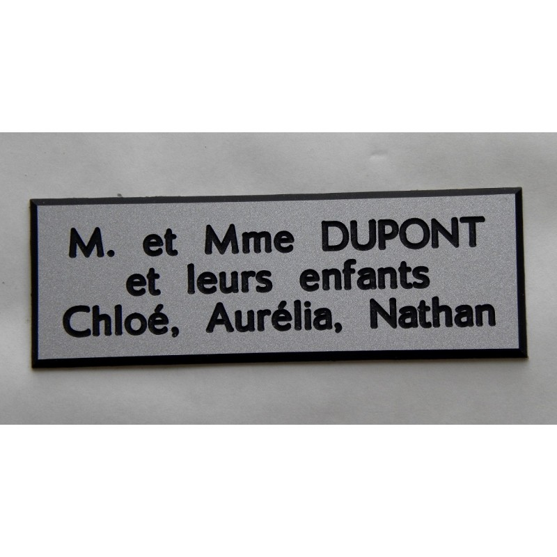 plaque de boite aux lettres sonnette format 20 x 60 mm personnalisable 3 lignes. Black Bedroom Furniture Sets. Home Design Ideas