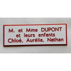 plaque etiquette boite aux lettres. Black Bedroom Furniture Sets. Home Design Ideas