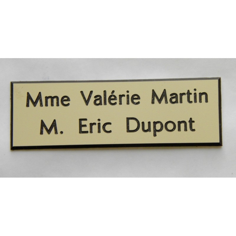 plaque de boite aux lettres sonnette format 25 x 75 mm. Black Bedroom Furniture Sets. Home Design Ideas