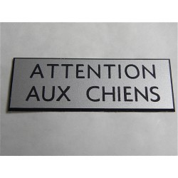 plaque de boite aux lettres attention aux chiens. Black Bedroom Furniture Sets. Home Design Ideas