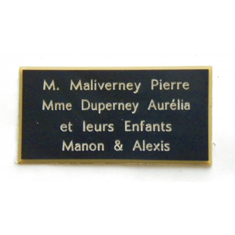 plaque de boite aux lettres porte sonnette format 48 x 100 mm personnalisable 4 lignes. Black Bedroom Furniture Sets. Home Design Ideas