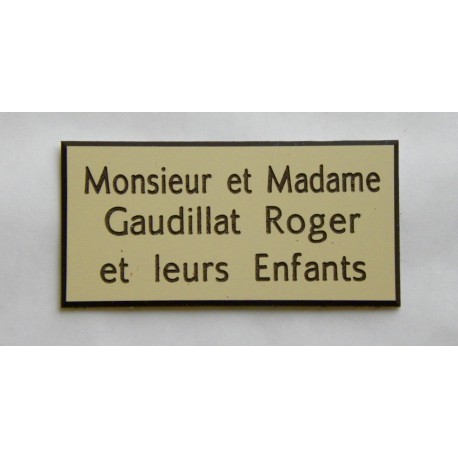 plaque de boite aux lettres porte sonnette format 48 x 100 mm personnalisable 3 lignes. Black Bedroom Furniture Sets. Home Design Ideas