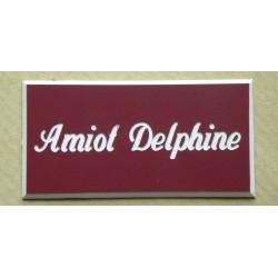 plaque de boite aux lettres sonnette format 25 x 50 mm. Black Bedroom Furniture Sets. Home Design Ideas