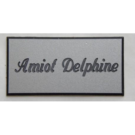 plaque de boite aux lettres sonnette format 25 x 50 mm personnalisable 1 ligne anglaise. Black Bedroom Furniture Sets. Home Design Ideas