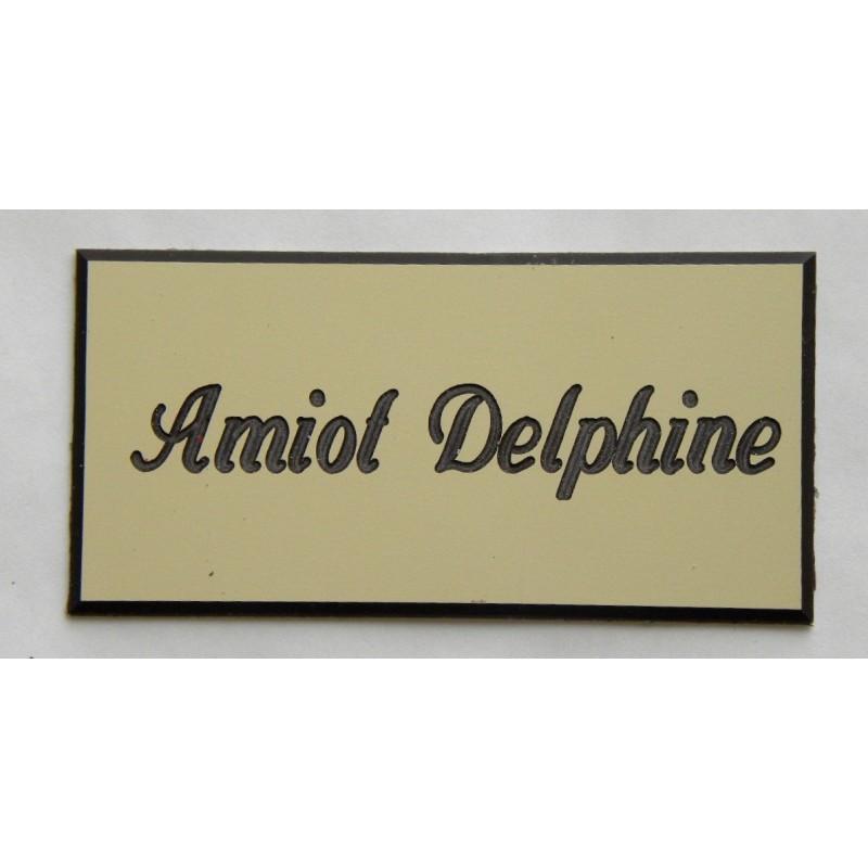 plaque de boite aux lettres porte sonnette format 75 x 150 mm personnalisable 1 ligne. Black Bedroom Furniture Sets. Home Design Ideas