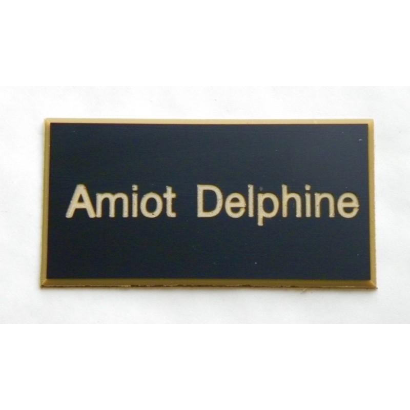 plaque de boite aux lettres sonnette format 25 x 50 mm personnalisable 1 ligne. Black Bedroom Furniture Sets. Home Design Ideas