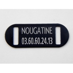 PLAQUE identification chat noire gravure offerte