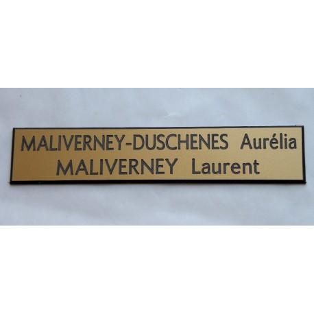 plaque de boite aux lettres, sonnette format 20 x 100 mm personnalisable 2 lignes