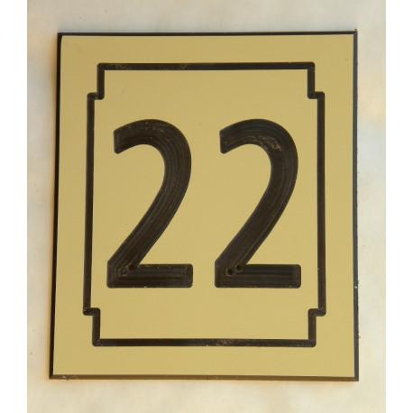 numero de rue ivoire personnalis e plaque 150 x 130 mm grav e. Black Bedroom Furniture Sets. Home Design Ideas