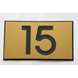 plaque numéro boite aux lettres, doré ft 35 x 50 mm personnalisable