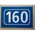 NUMERO DE RUE bleu marine personnalisée plaque ft 150 x 100 mm gravée