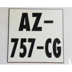 plaque immatriculation ft 10x10 CM moto tout terrain