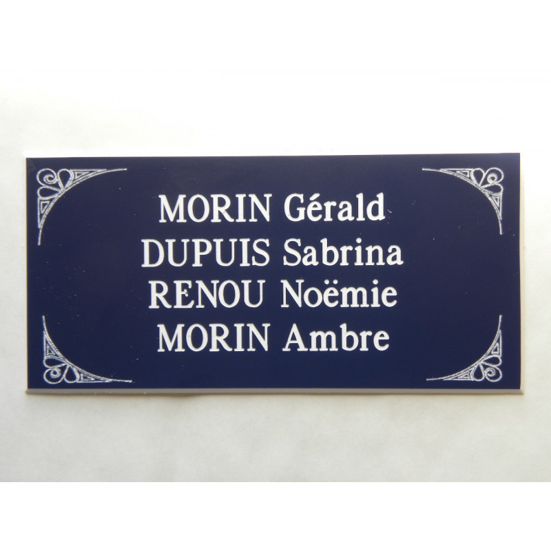 plaque de boite aux lettres porte bleu format 48 x 100. Black Bedroom Furniture Sets. Home Design Ideas