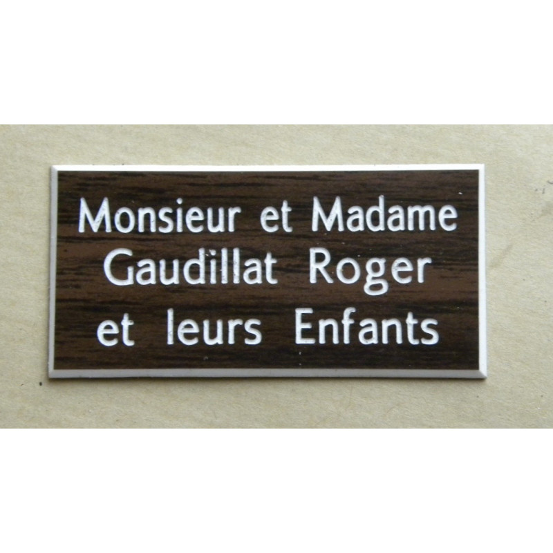 plaque de boite aux lettres porte noyer format 75 x 150. Black Bedroom Furniture Sets. Home Design Ideas