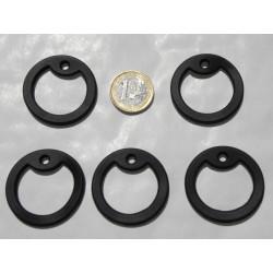 5 silencieux gi dog tag noir en caoutchouc pour plaque militaire
