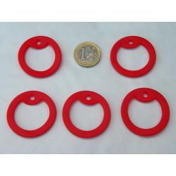 5 silencieux dog tag rouge en caoutchouc pour plaque militaire