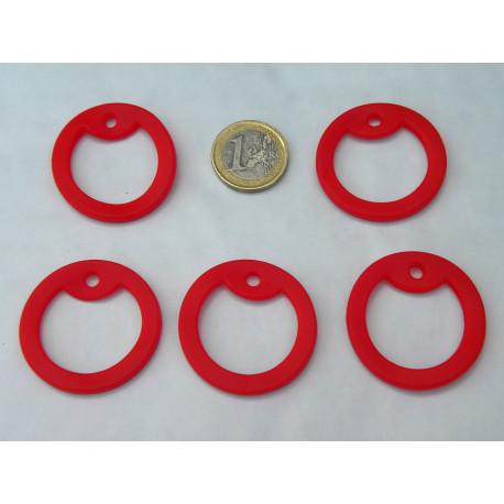 5 x silencieux rouge en caoutchouc pour plaques militaires GI