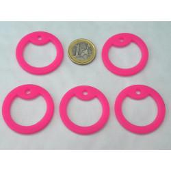 5 silencieux gi dog tag rose en caoutchouc pour plaque militaire