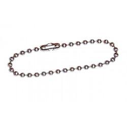 10 Chaines Boule acier inoxydable 2,1 x 100 mm avec fermoir