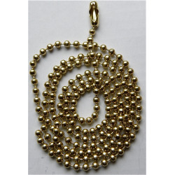 10 Chaines boules dorées acier inoxydable avec fermoir