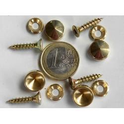 4 cache vis laiton diametre 12 mm