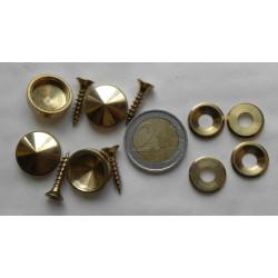 4 cache vis laiton diametre 18 mm