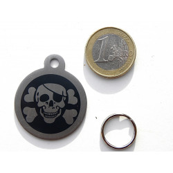 Médaille chien acier corsaire noir gravure gratuite
