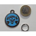 Médaille corsaire bleu acier grand Chien gravure offerte