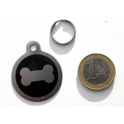 Médaille acier grand chien os personnalisable gravure offerte