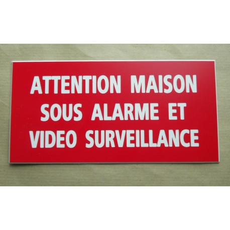 panneau maison sous alarme video surveillance 98x200 mm. Black Bedroom Furniture Sets. Home Design Ideas