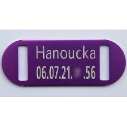 PLAQUE identification chat violette gravure offerte