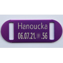 plaque identification chat couleur violette gravure offerte. Black Bedroom Furniture Sets. Home Design Ideas