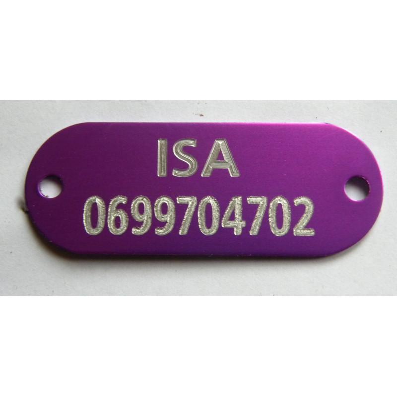 plaque identification chien chat violette. Black Bedroom Furniture Sets. Home Design Ideas
