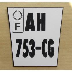 plaque immatriculation KTM enduro ft 8,5x9 Trapézoidale