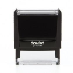 TAMPON TRODAT PRINTY 4913 + Plaque de texte 58 x 22 mm + Cassette encrage noire