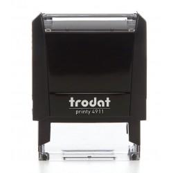 TAMPON ENCREUR TRODAT PRINTY 4911 + Plaque de texte 38 x 14 mm + Cassette encrage noire