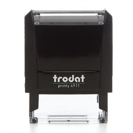 TAMPON ENCREUR TRODAT PRINTY 4911 + Plaque de texte 38 x 14 mm + Cassette encrage