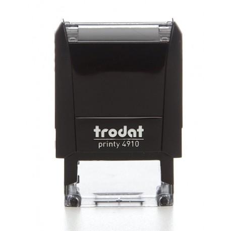 TAMPON encreur TRODAT PRINTY 4910 + Plaque de texte + cassette d'encage
