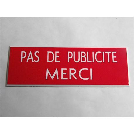 plaque etiquette boite aux lettres pas de publicité merci - estgravure.fr